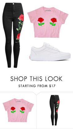 """""""ROSE🌹"""" by hoeforalex ❤ liked on Polyvore featuring Vans"""