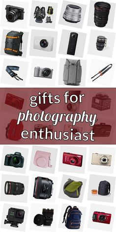 Are you looking for a present for a photographer? Get inspired! Read our ulimative collection of presents for photograpy lovers. We have cool gift ideas for photographers which are going to make them happy. Buying gifts for photography lovers doenst need to be difficult. And do not necessarily have to be costly. #giftsforphotographyenthusiast Pergola Swing, Gifts For Photographers, Swings, Cool Gifts, Presents, Lovers, Gift Ideas, Inspired, Happy
