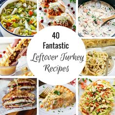 Thanksgiving is coming, and I've got 40 amazingly delicious ways to use up all that leftover turkey. These leftover turkey recipes will please any crowd!