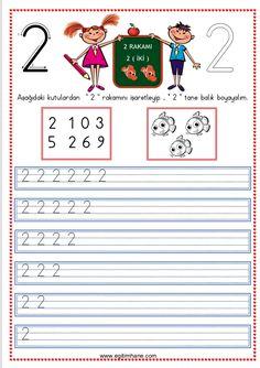 2 rakamının öğretimi Çiğdem öğretmen Preschool Math, Alphabet, Language, Activities, Education, Words, School, Alpha Bet, Languages