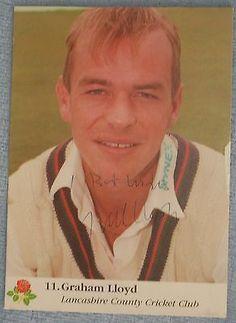 Graham Lloyd cricket signed Lancashire / England