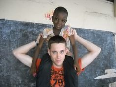 One of our volunteers in Togo at  a Care Project