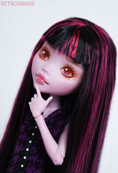 Monster High Doll Draculaura Custom by Retrograde Works  #monsterhigh #doll #draculaura #custom