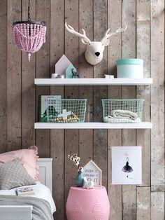 Raindeer Kidsdepot. #kidsroom #raindeer #white #kinderkamer #accessoires #mint #pink #wood