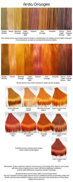 Orange hair dyes