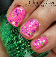 China Glaze Can I Get an Untz Untz Nail Polish // Electric Nights Neon Collection