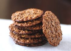 Healthy Thin and Chewy Peanut Butter Oatmeal Cookies - Desserts with Benefits