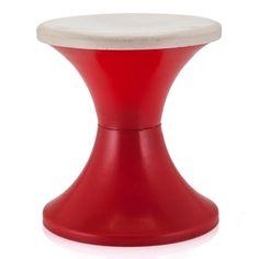 RED MINI PLASTIC STOOL  on Kwerkee