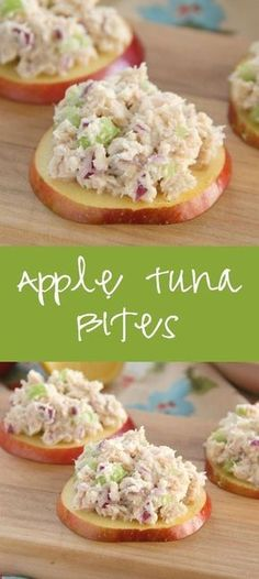 Apple Tuna Bites - perfect for a low-carb lunch or snack!