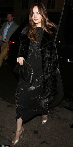 Fifty Shades Of Black:Dakota Johnson, 26, was proving her style prowess yet again on Monday, turning heads as she headed into London celebrity hotspot, the Chiltern Firehouse