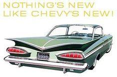 1959 Chevrolet Impala Sport Coupe - Promotional Advertising Poster #chevroletimpala1959