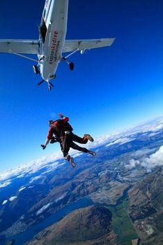 Skydiving, Queenstown, New Zealand