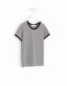 T-SHIRT RISCAS CONTRASTES - Tops e T-shirts - Woman -   Lefties Portugal