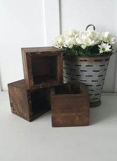 Rustic Flower Planter Box/ Centerpieces/ Wedding/ Mothers day/ Spring by JustbJenn on Etsy