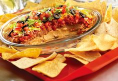 Southwestern style Layered Dip with Pace Chunky Salsa