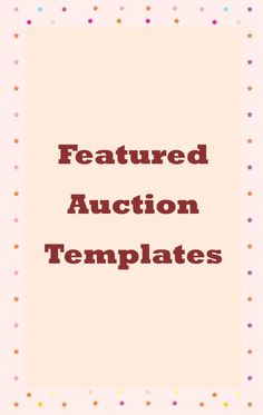 Featured Auction Templates