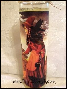 Witchcraft Crone Wisdom Fixed Candle Hoodoo by RitualWitchShop