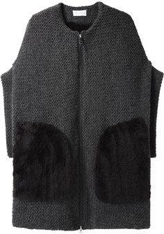 Tsumori Chisato / Fur Pocket Knit Jacket