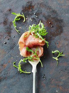 Prosciutto & Rocket Forks   Pork Recipes   Jamie Oliver Recipes