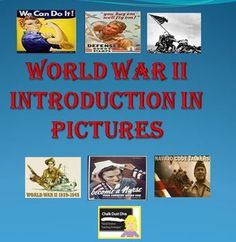 FREE! Introduce your students to World FREE! War II with this creative 30-slide power point. It includes pictures and music related to World War II in the United States. History Lesson Plans