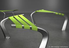 Flow bench  A modular concept created by Belgian designers of JAD Design Solutions studio, a solution that not only fit perfectly in any urban space (waiting rooms and public areas of airports, train stations and shopping malls) but is also able to satisfy different needs.