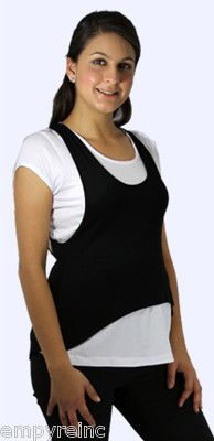 NWT SEXY MATERNITY White Black Layered Look Shirt Top Blouse Size S-M-L-XL NEW $21.99 cgi.ebay.com/... Maternity Tops, Maternity Wear, Black Layers, Layered Look, Outfit Sets, Athletic Tank Tops, Fashion Outfits, Paradise, Tees