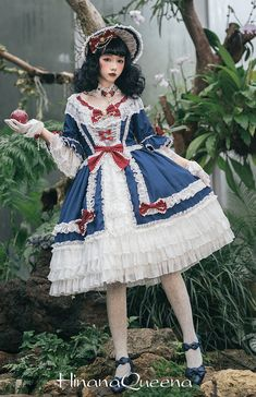 d7a0ebaace98 Hinana -Moira- Vintage Classic Lolita OP Dress (2018 Short Version)