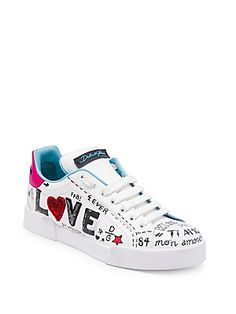 newest collection c1184 3fcb6 Dolce   Gabbana Love Leather Sneakers