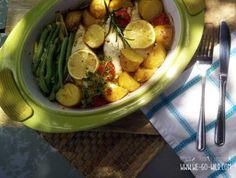 One Pot Zitronenhänchen One Pot, Potato Salad, Potatoes, Meat, Chicken, Ethnic Recipes, Food, Chicken Recipes Oven, Recipes With Chicken