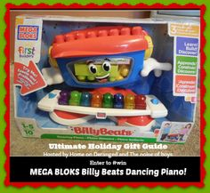 MEGA BLOKS First Builders #review PLUS Billy Beats Dancing Piano #giveaway ends 12/17 #HolidayGiftGuide - The noise of boys