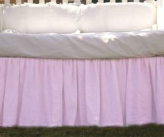 Pink Crib Skirts | Handcrafted by Supeior Custom Linens