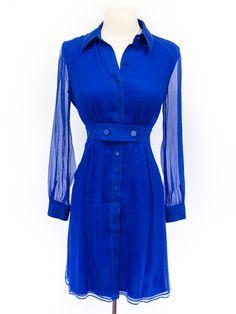 Catherine Malandrino size 0 royal blue silk dress. *so blue.