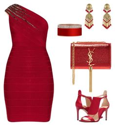 """Untitled #394"" by style75 on Polyvore featuring Nine West, Hervé Léger, Yves Saint Laurent and Etro"