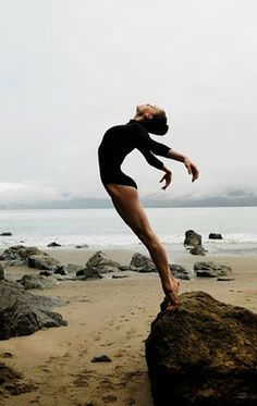What is it about dancing at the beach. For me freedom, peace, beauty and the way you land!