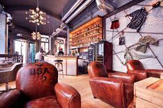 addicted to rock//Vienna//shop design//bar//restaurant//leather//jack daniels