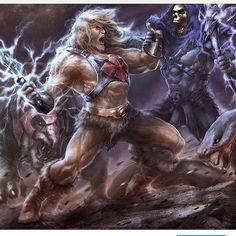 #HeMan #vs #Skeletor #art by Reyhan! Found on @hemania #MastersoftheUniverse #MOTU #BythePowerofGrayskull #IHaveThePower