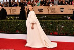 Glowing: The 35-year-old star is expecting her second child with husband Benjamin Millepie...