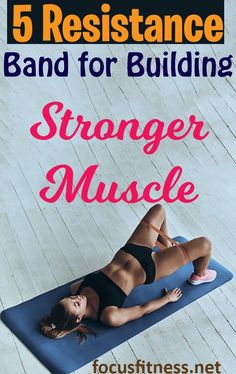 Top 5 Resistance Bands for Building Muscle Anywhere - Focus Fitness Rectus Abdominis Muscle, Build Muscle At Home, Best Resistance Bands, Workout Plan For Women, Abdominal Muscles, Wellness Fitness, Muscle Groups, Muscle Fitness, Strength Training