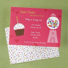 Sweet Treats - Girls Candy Birthday Invitation