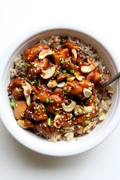 Instant Pot Cashew Chicken--this cashew chicken is just as good as your favorite Chinese restaurant. The instant pot speeds up the cooking process.