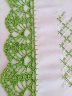 Bicos e Barrados Trabalhos impecáveis feitos em Crochê