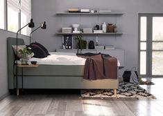 With pleasant Scandinavian designs, inspired by the fabulous Norwegian nature and sleep comfort of the highest quality, Jensen beds are made in order for . Gray Bedroom, Signature Collection, Scandinavian Design, Comforters, Couch, Bedrooms, Inspiration, Furniture, Grey