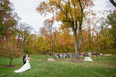 Processional to the Glen. Photo Credit: Lovemore Photography #brandywinemanorhouse