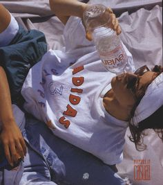 adidas x evian advertisement in vogue us september 1987
