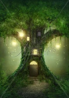 Forest Tree House Photography Backdrop