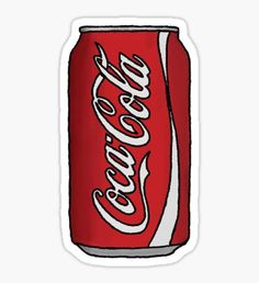 Coca Cola Can Sticker Coca Cola kann Aufkleber The post Coca Cola kann Aufkleber & sticker appeared first on Print . Preppy Stickers, Red Bubble Stickers, Food Stickers, Phone Stickers, Diy Stickers, Printable Stickers, Wallpaper Stickers, Tumblr Stickers, Icarly