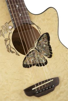 Luna Guitars Fauna Butterfly Acoustic/Electric Guitar Trans Natural Crazy in love with this guitar