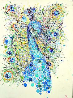 Colorful dotted animals on Behance Ana Enshina