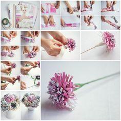 DIY Beautiful Flowers from Old Magazine  https://www.facebook.com/icreativeideas