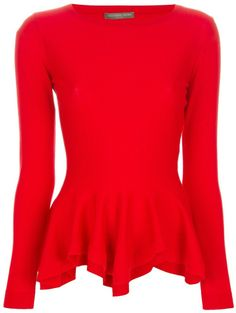 Alexander McQueen Ruffle hem top on shopstyle.com